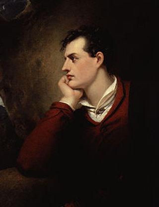 Retrato de Byron, de Richard Westall