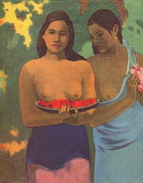 1.-Dos muejres tahitianas - Gauguin